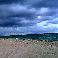 Art Photography/Beach Wall Art/Cloudy Beach Picture/Bathroom Picture/Home Decor