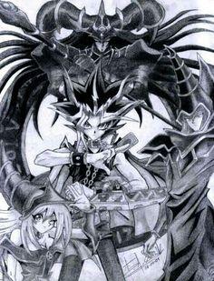 Yami and his Dark Magician cards
