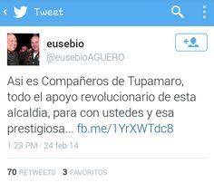 El alcalde de Cagua felicitando a los Tupamaro x el asesinato de un manifestante
