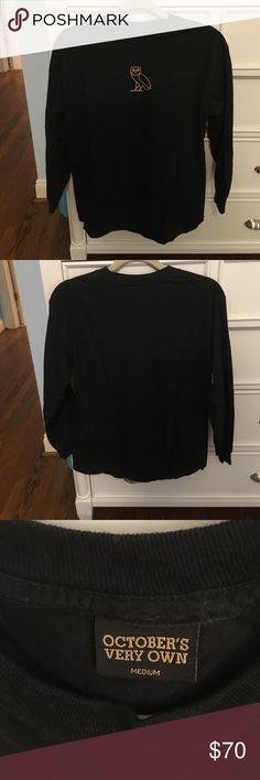 OVO Long Sleeve Shirt Worn one time, no signs of use. Like new! October's Very Own Shirts Tees - Long Sleeve