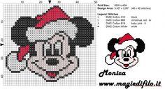 Navidad de Mickey Mouse patrón de la puntada cara cruz: