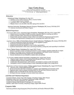 Sample Resume College Graduate Alluring College Resume For High School Students  Kids  Pinterest  College .