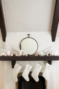 A Holiday Mantel for Under $50 | Copy Cat Chic | Bloglovin'