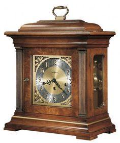 Howard Miller Chiming Thomas Tompion Key Wound Mantel Clock