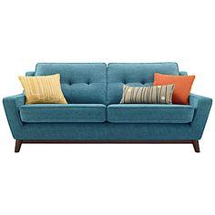 Buy G Plan Vintage The Fifty Three Large Sofa, Fleck Blue online at JohnLewis.com - John Lewis