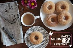 Baked Cinnamon Sugar Doughnuts from @Shutterbean. Be still my heart.