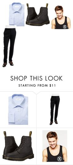 """""""Rex and Oliver's Outfit"""" by lizzie12304 on Polyvore featuring Yves Saint Laurent, Ted Baker, Dr. Martens, Toni&Guy, men's fashion and menswear"""