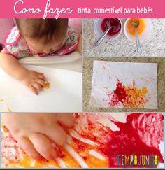 Atividades bebês - tinta comestível DIY tinta para bebês