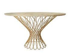 So graceful! Brass wire table base.