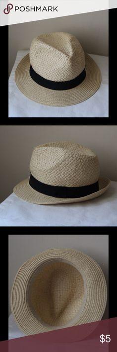 Fedora beach hat Fedora beach hat with black ribbon detail - like new! Accessories Hats