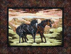 Western Wild Horse Canyon Toni Whitney Quilt Pattern #BigforkBayCottonCompany #Applique