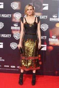 Diane Kruger Wearing Vera Wang Diane Kruger Vera Wang Night Looks Beautiful Gowns