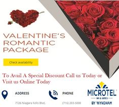 Microtel Inn & Suites offers great weekend offers on  valentine's day, we avail the  best valentine hotel packages in Niagara Falls, NY to get delightful staying experience on Valentines day, contact us today.