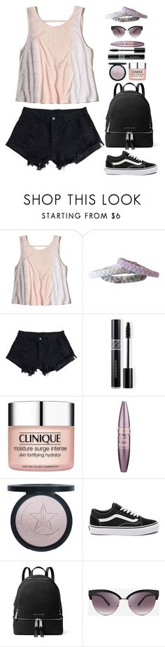 """""""Tye Dye"""" by gicreazioni ❤ liked on Polyvore featuring Hollister Co., WithChic, Christian Dior, Clinique, Maybelline, Vans, MICHAEL Michael Kors and Ashley Stewart"""
