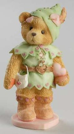 Robin-You Steal Away My Heart - Boxed in the Cherished Teddies Sweet Heart Ball pattern by Enesco China