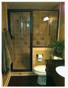 Stone tile walk in shower design kenwood kitchens in for Bathroom remodel 10k
