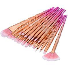 Large Fan Pink Rose Gold Brush Amazing Hair Eyeliner Eyeshadow Eye Make Up Tool Blush Highlighter Brush Professional Makeup Brush Set It Cosmetics Brushes, Eyeshadow Brushes, Eyeshadow Makeup, Makeup Cosmetics, Eyeliner, Lip Contouring, Contour Makeup, Blush Makeup, Highlighter Brush
