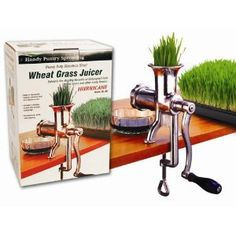 Hurricane Stainless Steel Manual Wheatgrass Juicer- Hand Crank Juice Extractor for Wheat Grass Barley Grass Juicing kitchen-dining Food For Kidney Health, Wheatgrass Juicer, Kitchen Gadgets, Kitchen Appliances, Kitchen Utensils, Juicer Reviews, Manual Juicer, Best Juicer, Juice Extractor