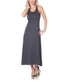 Look what I found on #zulily! Charcoal Racerback Maxi Dress by White Mark #zulilyfinds