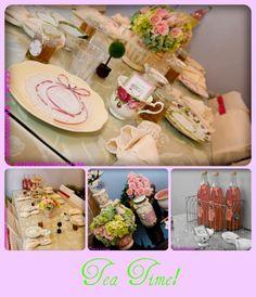 Tea Party Bridal Shower on http://pizzazzerie.com