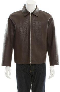Louis Vuitton Pebbled Leather Jacket