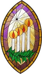 Stained Glass: Advent Candles