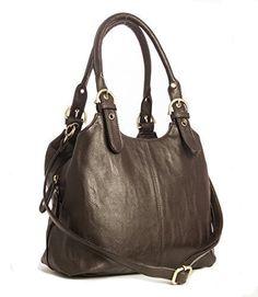 awesome Big Handbag Shop Womens Medium Size Plain Shoulder Bag with a Long Strap