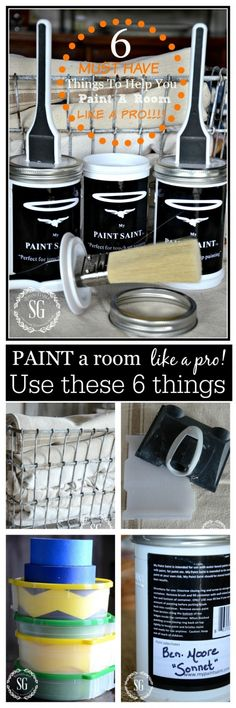 6 MUST HAVE THINGS TO PAINT A ROOM LIKE A PRO-make big painting jobs so much easier-stonegableblog.com