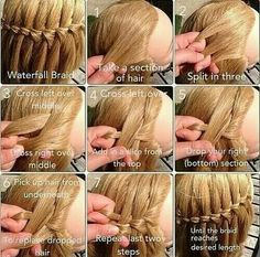 Good how-to instructions for waterfall braid