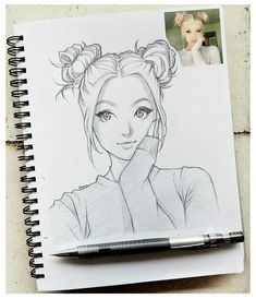 Want to have your own character in anime ? #anime #animeportrait #animecharacter #animemanga #animesketch Doodle Drawing, Girly Drawings, Cartoon Sketches, Art Drawings Sketches Simple, Cool Sketches, Pencil Art Drawings, Manga Drawing, Cartoon Art, Disney Drawings