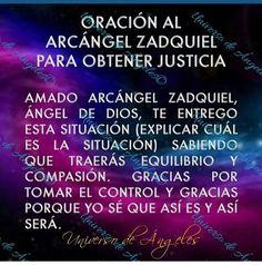 Holy Spirit Prayer, God Prayer, Prayer Quotes, Book Quotes, Archangel Zadkiel, Spanish Prayers, Laws Of Life, Angel Prayers, Daily Positive Affirmations