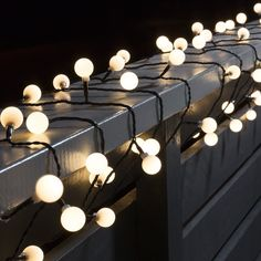 Konstsmide 80 Warm White Large Cherry LED String Lights