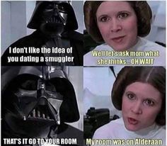 Tagged with star wars, starwars; Shared by My favorite Star Wars posts from the past year Star Wars Film, Star Wars Witze, Star Wars Jokes, Funny Star Wars, Starwars, Carrie Fisher, Obi Wan, Memes Humor, Funny Memes