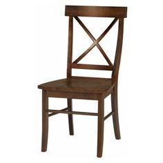 International Concepts X-Back Dining Chairs with Solid Wood Seat - Set of 2   from hayneedle.com