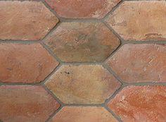Lozenges Blend 11 1/2 X 5 3/4 X 5/8. Reclaimed European Terra Cotta from Country Floors. #terracotta