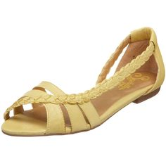 seychelles get outta town flat from endless.com in yellow