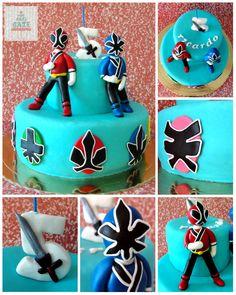 Power Ranger Samurai Cake - by CakeCakeCake @ CakesDecor.com - cake decorating website