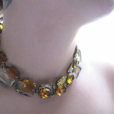 Dreaming Out Loud light yellow Statement Necklace by SacredCake