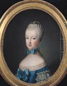 Jean Baptiste (or Joseph) Charpentier:Portrait of Marie-Antoinette de Habsbourg-