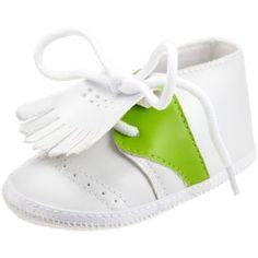 Mud Pie Country Club Baby Golf Shoes, White/Green, 0 - 6 Months  Mud Pie , http://www.amazon.com/dp/B0036WCE8K/ref=cm_sw_r_pi_dp_jnFJpb1XNJQRZ