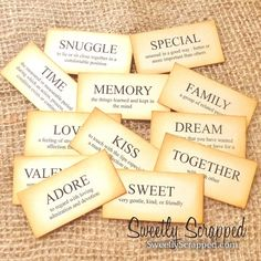 SWEET Definition Flash Cards Scrapbooking by SweetlyScrappedArt