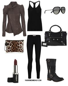 I think this is the look i'm going for next year...is leather EVER out of style? *NO* (all caps lol)