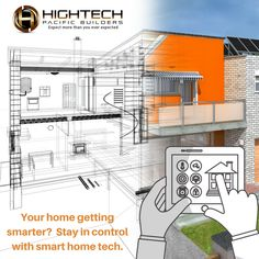 Hold the majority of your home's necessary functions in the palm of you hand and automate your home with smart home technology. Smart Home Technology, Conditioning, Remodeling, Beautiful Homes, Remote, Floor Plans, Appliances, Lighting, Phone