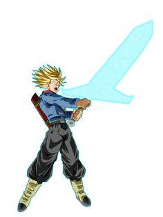 Super Saiyan Rage Future Trunks uses the Light Sword