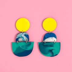 horizon earrings - teal from ban.do