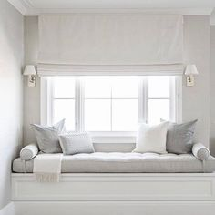 Fresh White Contemporary Bed Of Bedroom Window Seat Designs Luxury Girl S Built In Desk Contemporary - Home Design ideas Home Decor Bedroom, Master Bedroom, Bedroom Furniture, Bedroom Sets, Bedroom Benches, Bedroom Nook, White Bedroom, Window Seat Cushions, Window Seats