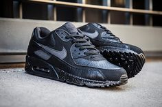 "Nike Air Max 90 Premium ""Black & Metallic Silver"""