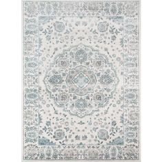 Machine-Made Regent Adrianna Ivory Polypropylene with Polyester Rug (7'10 x 9'10)