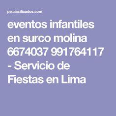 eventos infantiles en surco molina 6674037 991764117 - Servicio de Fiestas en Lima