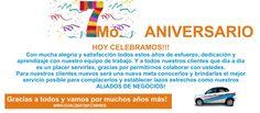 HOY CELEBRAMOS YA 7 AÑOS DE SERVIRLES, GRACIAS A TODOS NUESTROS CLIENTES!